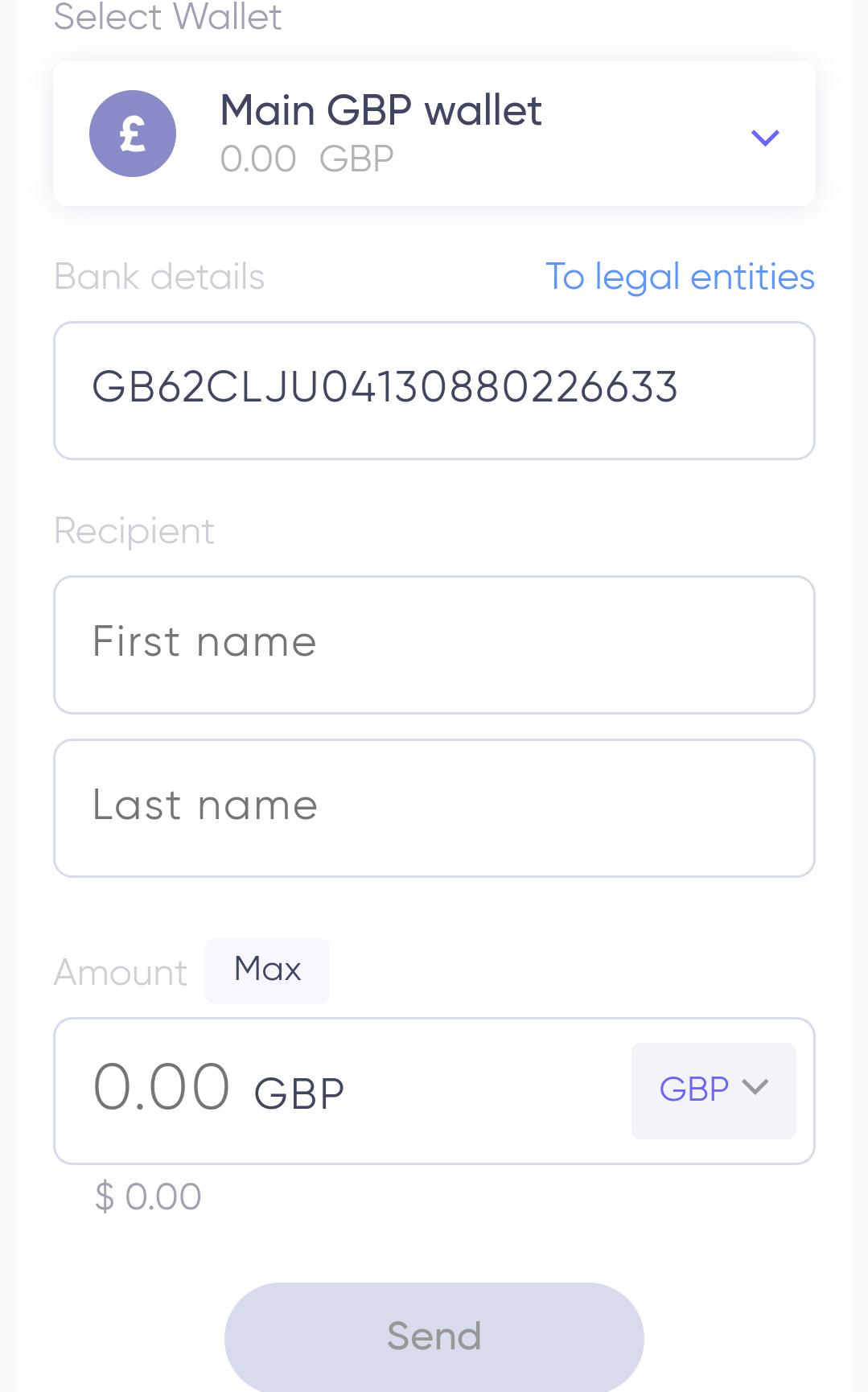 quppy英镑账户发送选项卡